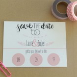 save the date carte a gratter