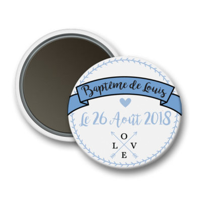 magnet-bapteme-inscription-bleue